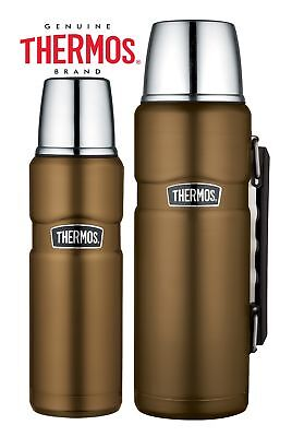 Thermos Stainless King Flask Vacuum Insulated Travel 470ml or 1.2L Brass