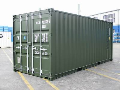 SHIPPING CONTAINERS 20 FT GREEN RAL6007 £1855+vat