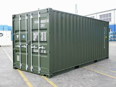 SHIPPING CONTAINERS 20 FT GREEN RAL6007 £1955+vat