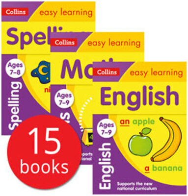 Collins Easy Learning Age 7-9 Collection - 15 Books