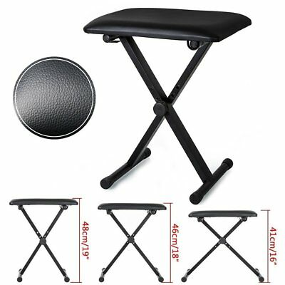 Piano Stool Keyboard Drum Bench Padded Seat Cushion Chair Adjustable Height