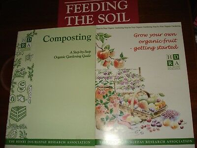 Composting,Feeding the Soil,Grow your own Organic Fruit,Henry Doubleday booklets