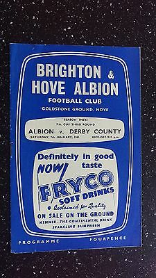 Brighton & Hove Albion V Derby County 1960-61.