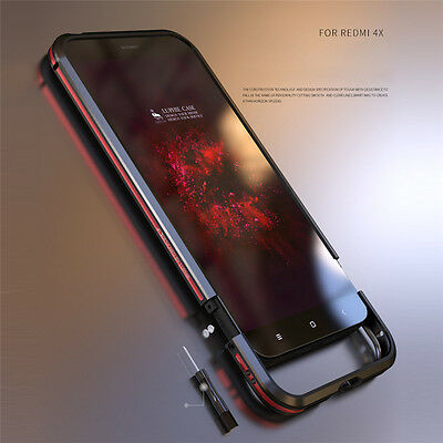 Shockproof Luphie Aluminum Metal Bumper Frame Case Cover For Xiaomi Redmi 4X