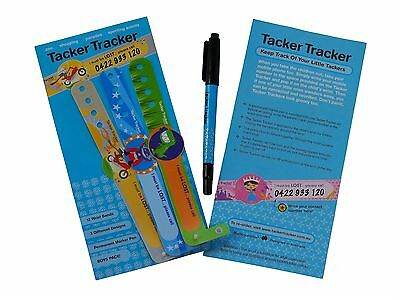 Child Safety Wrist Bands for boys( x 12 per package )