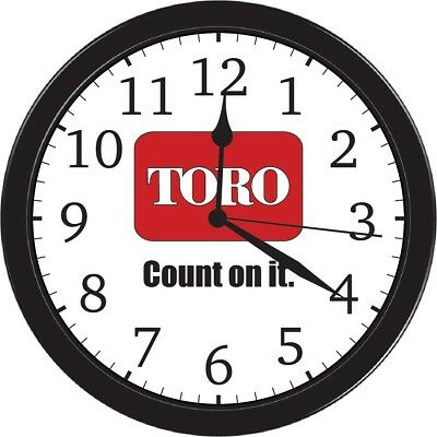 Toro Collectible Garden Lawn Tractor Wall Hanging Sign Picture Decal Part Clock