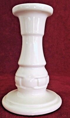 "Longaberger Woven Traditions Ivory Candleholder Candlestick 5"" – USA"