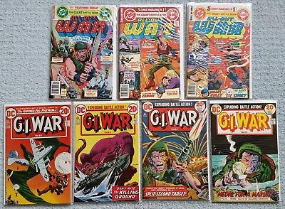 G.I. War Tales #1-4, All Out War1-3, Original Owner-Great Condition!