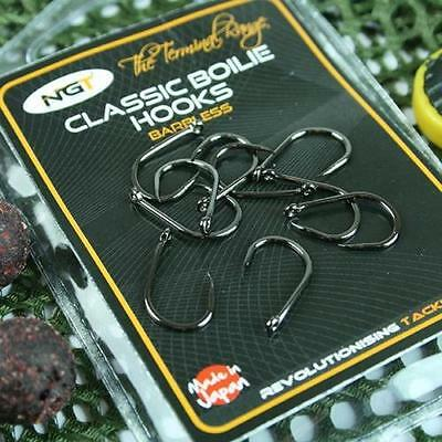8 NGT Carp Fishing Barbless Size 6 10 Hook Boilie Baits Hair Rigs Carp Fishing
