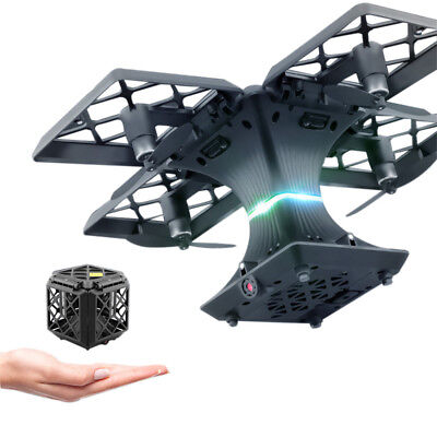 Utoghter 2MP Wif FPV 6-Axis Gyro Quadcopter Folding Transformable Pocket Drone