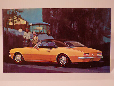 New Old Stock 1967 Chevrolet Camaro Dealers Promo Post Card Unused Litho in USA
