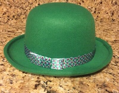 MILLER LITE BEER Cans GREEN DERBY Paddys  St Patricks Day Bowler HAT Party