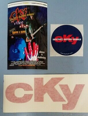 CKY 2001 sticker & EZ peel sticker set Flawless NEW old stock Bam Margera VOLCOM