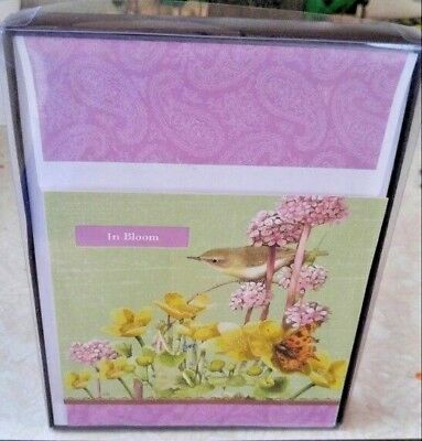 "Hallmark Marjolein Bastin Square Blank Notecards 5.25"" Square Set of 10 NIB"
