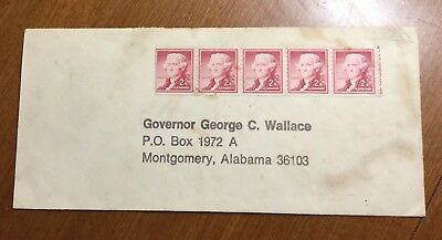 Vintage ENVELOPE Stamped and Addressed To GOVERNOR GEORGE C. WALLACE