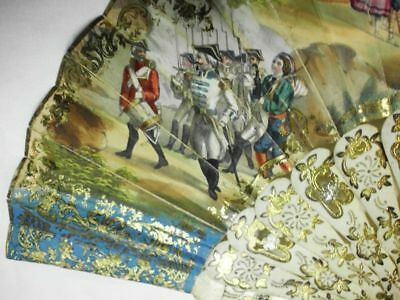 edler antiker Fächer-Uniformen+Trachten-ca.1800-historical fan-Military+costumes