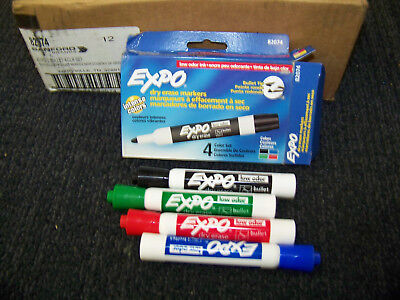 Sanford Dry Erase Markers 4 Colors 12 Boxes 82074