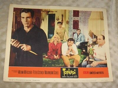 Topkapi original 1964 lobby card lot of 5 great price and condition # 1 3 4 6 7