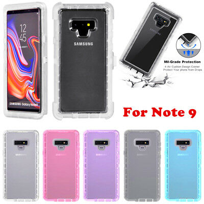 For Samsung Galaxy Note 9 Clear Transparent Defender Case (Clip Fits Otterbox)