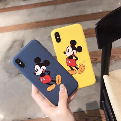 Fashion Couple Mickey Mouse Happy Soft Case For iPhone X XR XS Max 6 6s 7 8 Plus