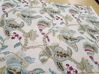 Travers Fabrics Pattern Yorkshire 1 Yd x 54 In Linen Yorkshire Manor Print