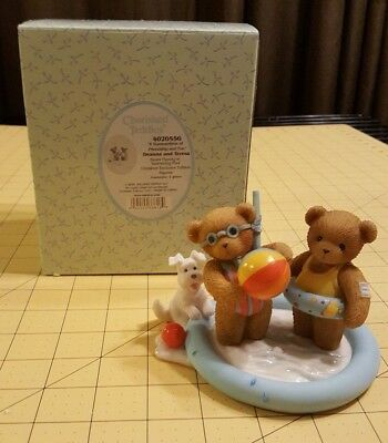 Cherished Teddies Deanna & Teresa Summertime Pool 4020556 Signed Limited Edition