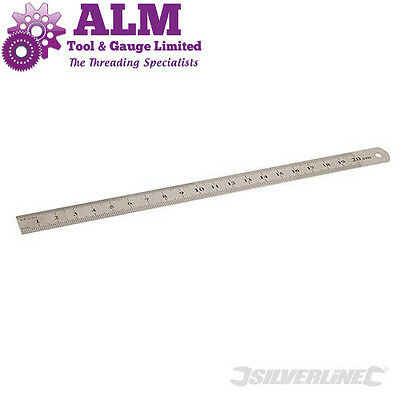 "8"" 200mm FLEXIBLE RULER STAINLESS STEEL METRIC & IMPERIAL RULE"