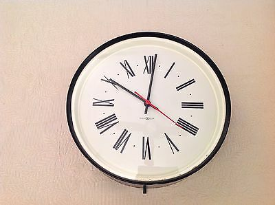HOWARD MILLER WALL CLOCK ~ Vintage + Sublime + Classic  ~ Round Roman Numerals