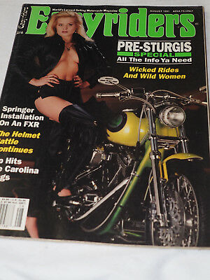 Easy Rider Magazine #218 AUG 1991 PRE-STURGIS SPECIAL Wicked Rides and wild wome