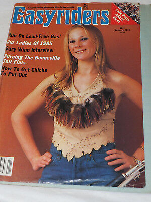 Easy Rider Magazine  #151 JAN 1986 oUR LADIES OF 1985 Run on lead free Gas