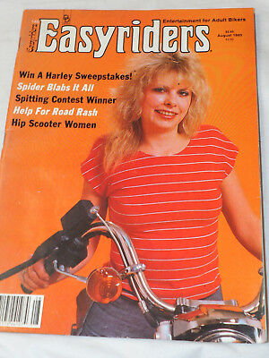 Easy Rider Magazine  #146 AUG 1985 Spider Blabs it all Help for Road Rash