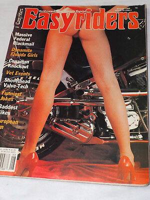 Easy Rider Magazine #194 AUG 1989 with POSTER GATEFOLD Massive Federal Blackmail