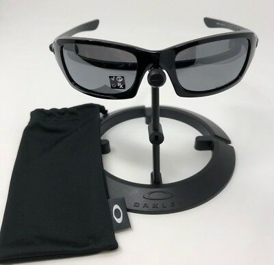 Oakley Men's Fives Squared Polarized Black Rectangle Sunglasses OO9238-06
