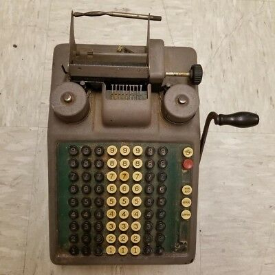 Rare BURROUGHS Portable Class 8 Antique 1920s Adding Machine