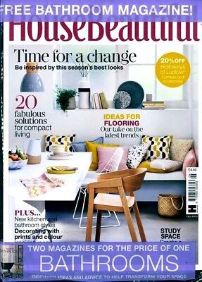 House Beautiful Magazine September 2018 ~ With Free Bathroom Mag ~ New ~