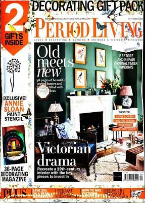 Period Living Magazine September 2018 With 2 Free Gifts ~ New ~