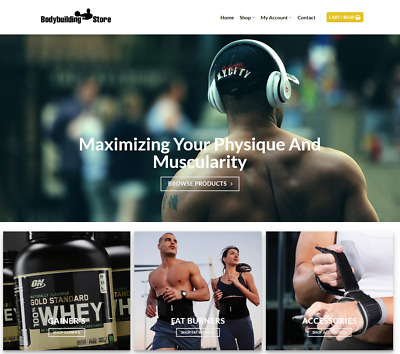 Body Building Website Business - Earn $154 A SALE. Free Domain|Hosting|Traffic