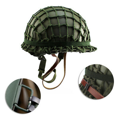 M1 CS W/Netting Cover Helmet Repro WWII Strong Steel WW2 Army Equipment Military