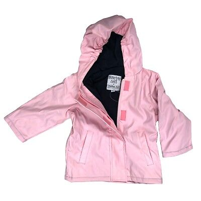 Pink Fleece Lined Girls Raincoat