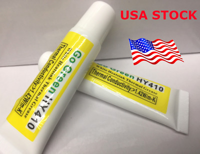 Thermal Grease CPU Chipset Cooling Compound Silicone Paste 25g HY410 White 2pc