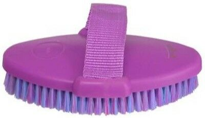 Grooming Body  Brush Horse Dog Cow Cat ~ With Strap ~ SET OF 6 ~ In Purple