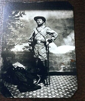"civil war John ""Grey Ghost""Mosby Colonel Of The Confederacy tintype C046RP"