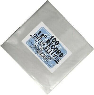 """(100) 12"""" Record Outer Sleeves - INDUSTRY STANDARD 3mil Thick Polyethylene - 12"""
