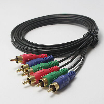 Component Video Cable 3-RCA Gold HDTV RGB YPbPr -  6FT