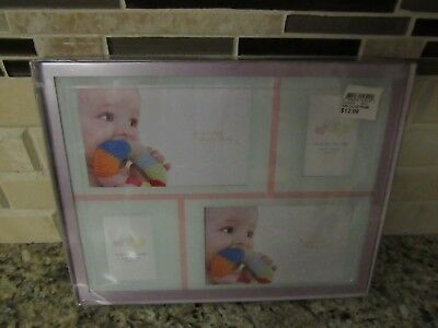 "Fashion Craft Pink Baby Girl Keepsake Picture Frame 2 each 6""x4"" & 2""x3"""
