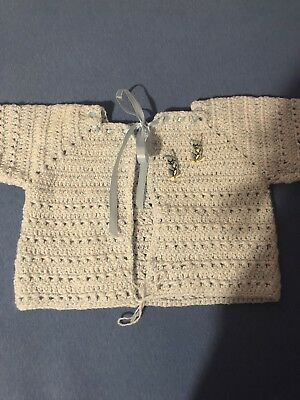 Vintage Baby Clothes Cardigan Sweater