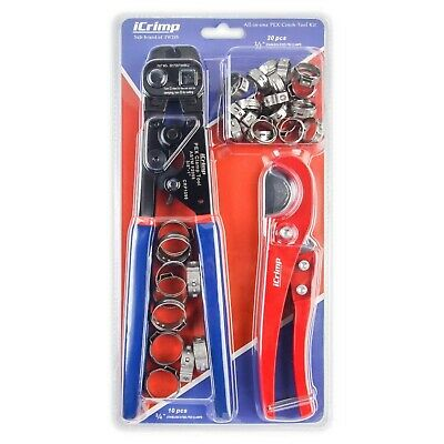 iCrimp Ratchet PEX Cinch Tool with Removing function for 3/8 to 1-inch Stainl...