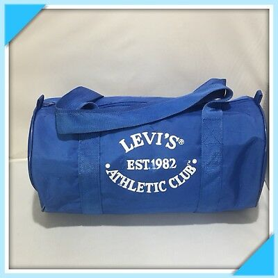 5b958a1639 Levi s Athletic Club Round Duffle Gym Bag Heavy Duty Duffel Vintage 1982 EUC