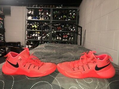 low priced 75921 cd7c9 Nike Zoom Hypershift Mens Athletic Basketball Shoes Size 12 Red Black