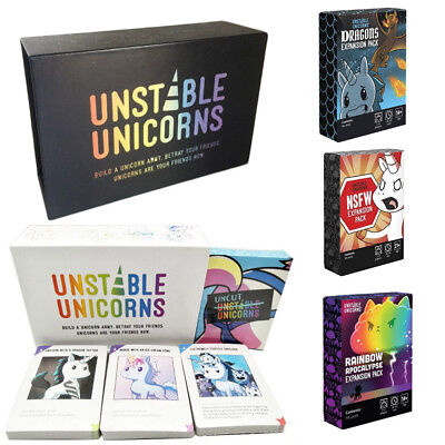 Unstable Unicorns Core Card Board Game With All Expansion Pack New Sealed
